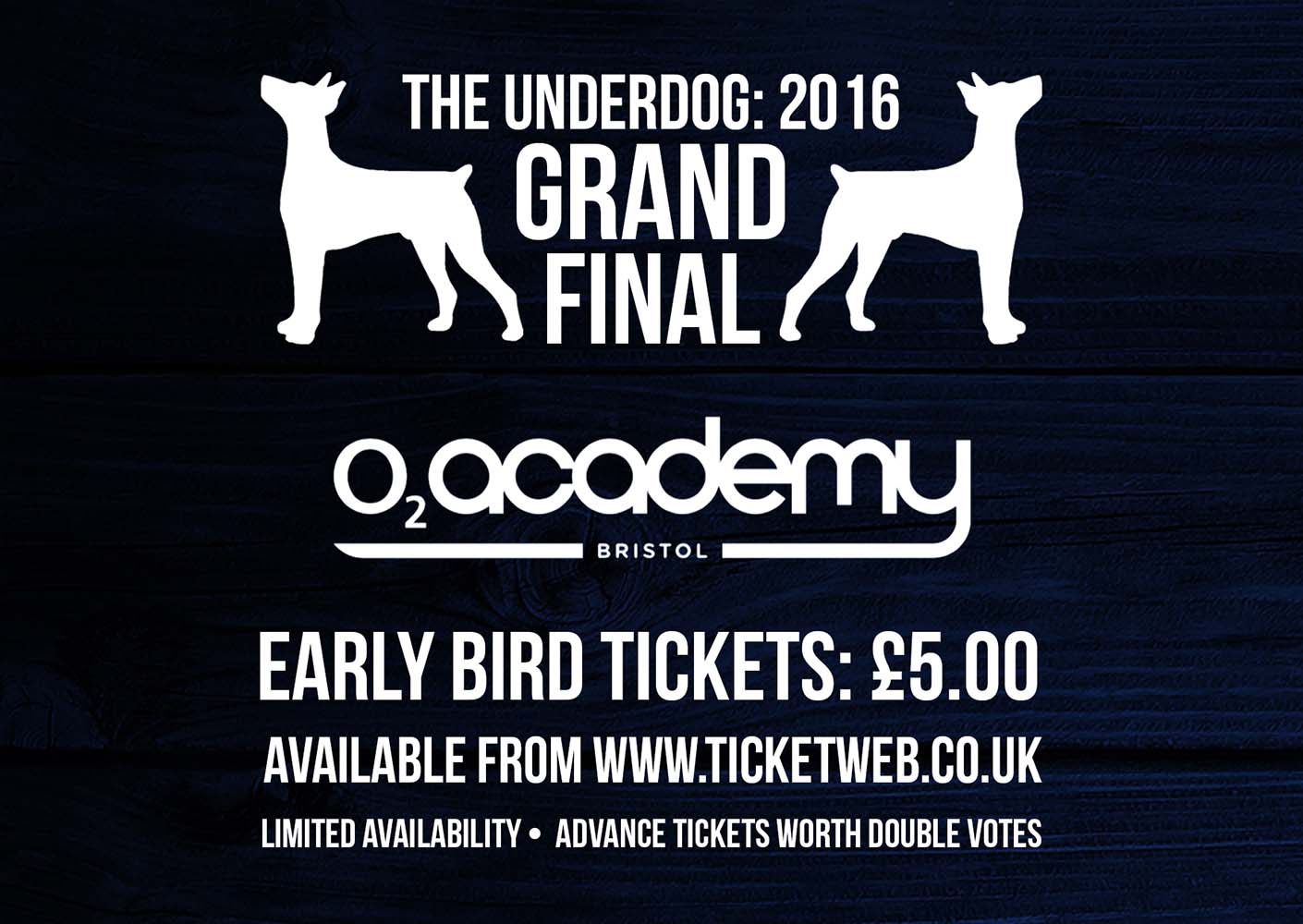 EARLY BIRD TICKETS FOR THE FINAL ON SALE NOW